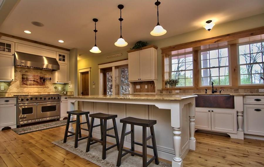 house for sale buck hill falls stone cottage kitchen