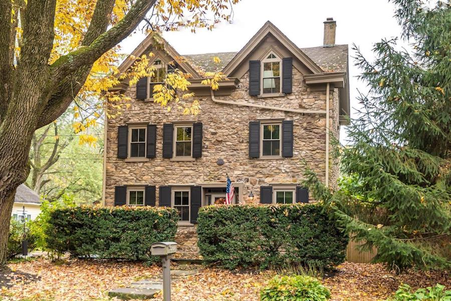 house for sale Doylestown Gothic revival exterior front