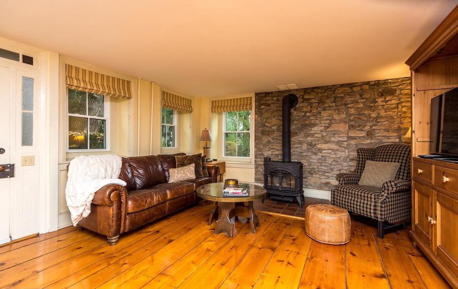 house for sale Doylestown Gothic revival living room