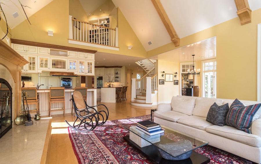 main floor great room, kitchen and anteroom