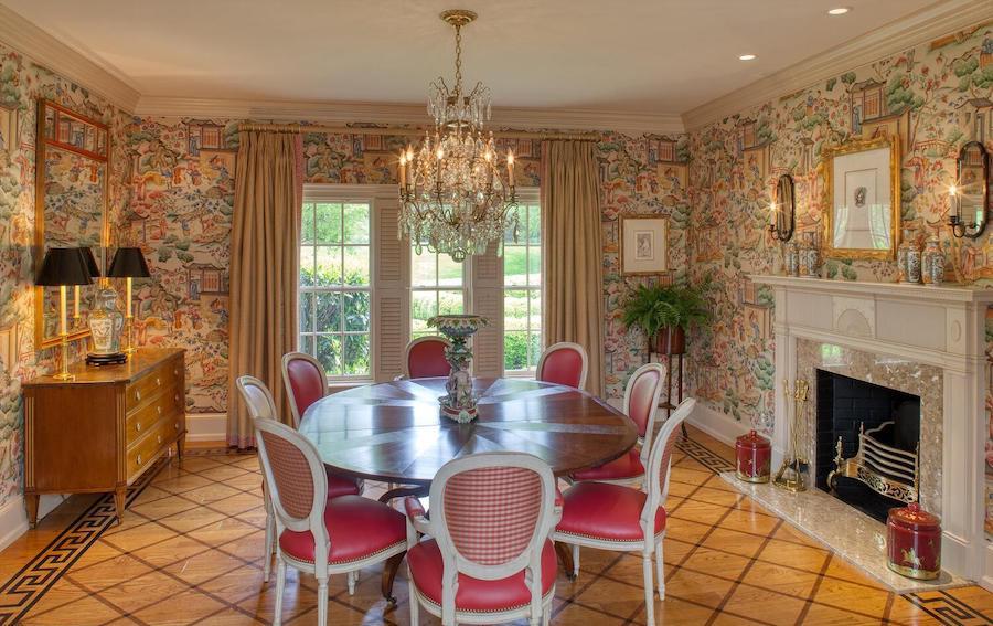house for sale Gladwyne colonial farmhouse dining room