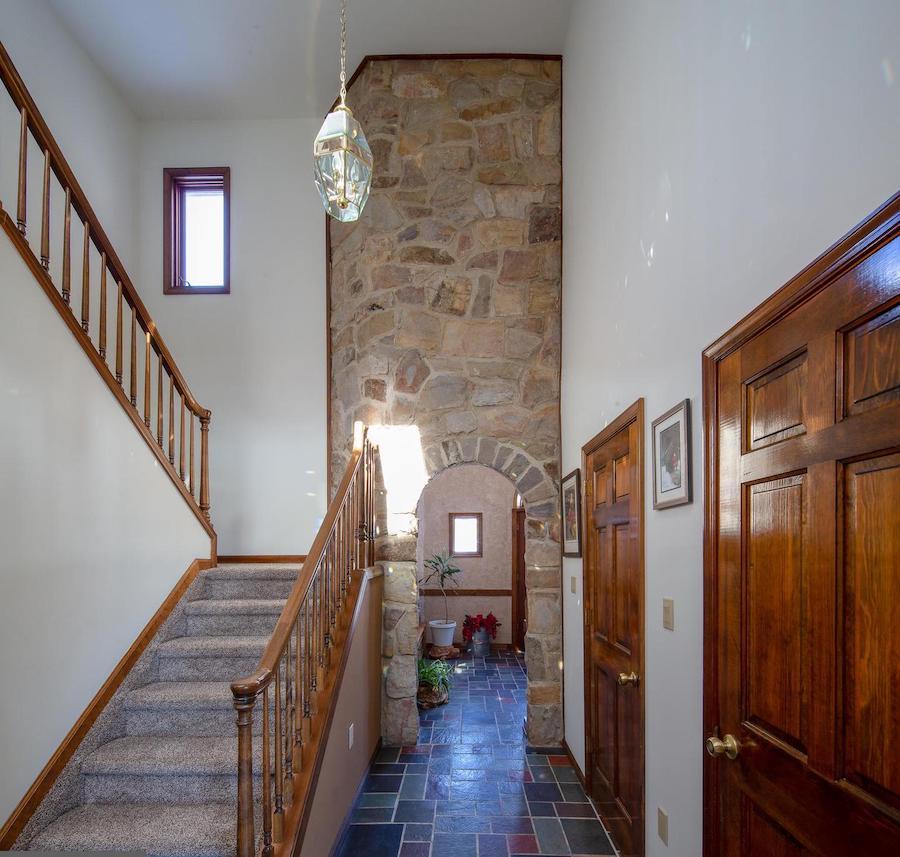 house for sale new hope modern castle foyer