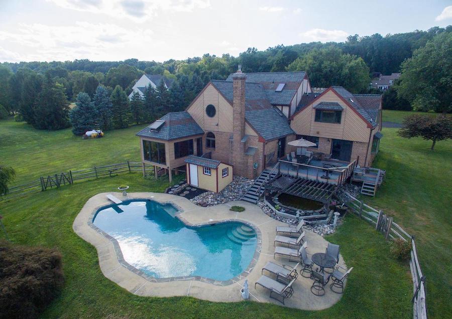 backyard, deck and pool