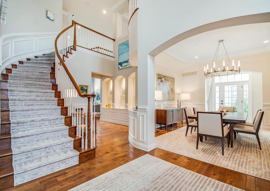 house for sale Newtown Square neotraditional foyer