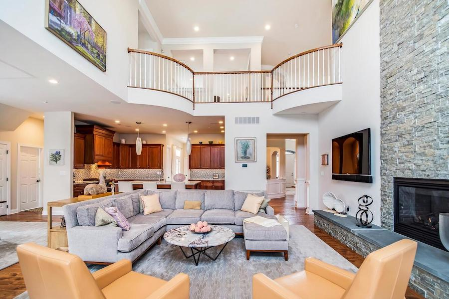 house for sale Newtown Square neotraditional great room