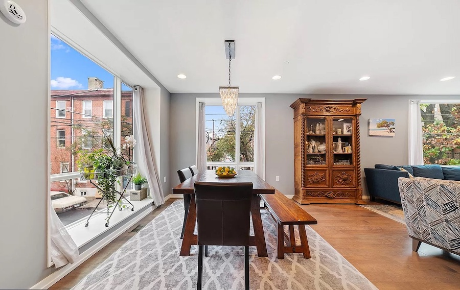 house for sale northern liberties modern townhouse dining room