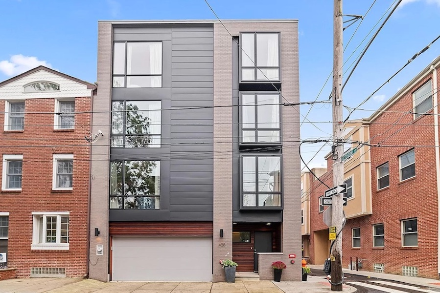 house for sale northern liberties modern townhouse exterior front