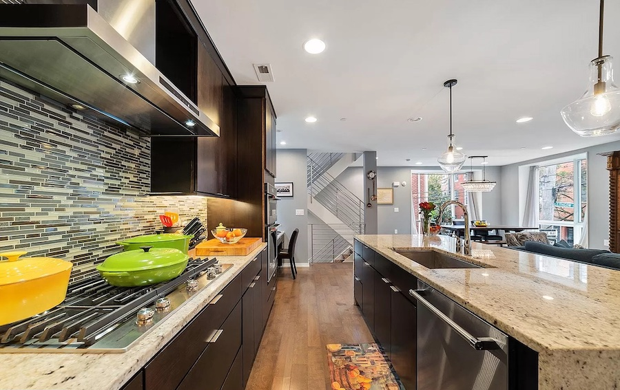 house for sale northern liberties modern townhouse kitchen