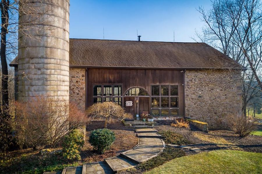 house for sale Phoenixville converted barn exterior front