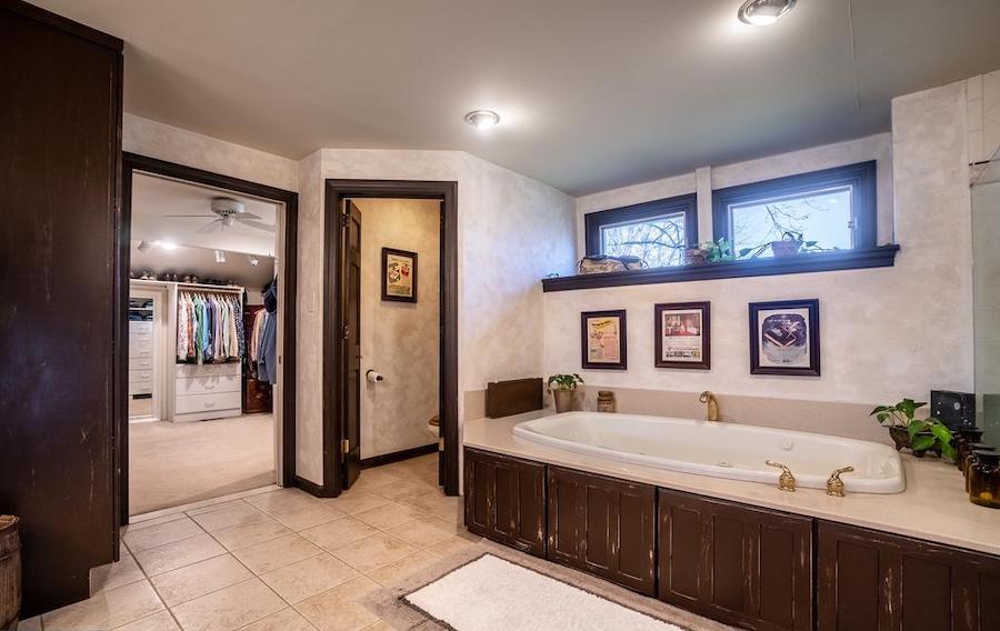 primary suite bathroom and closet