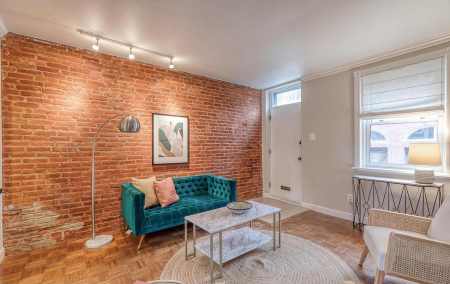 house for sale queen village updated trinity living room