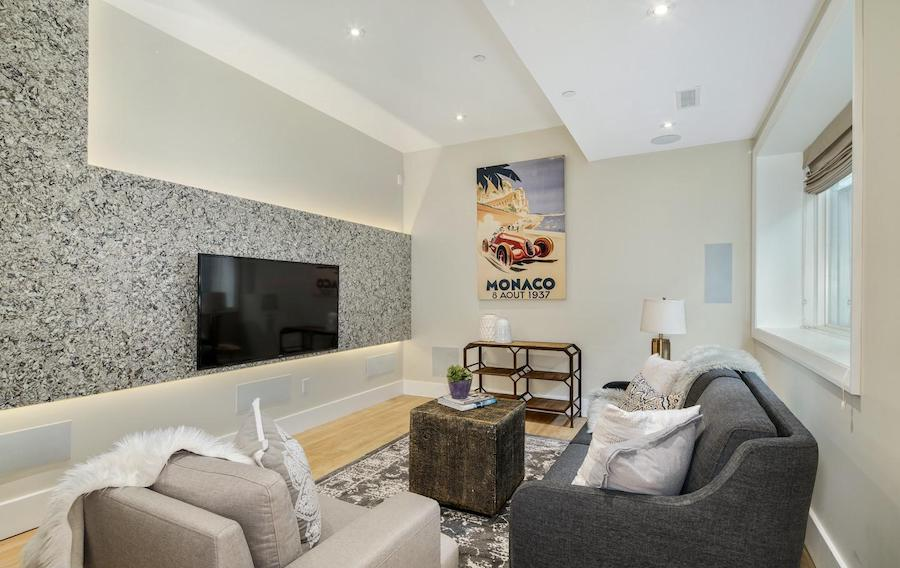 house for sale queen village modern townhouse media room