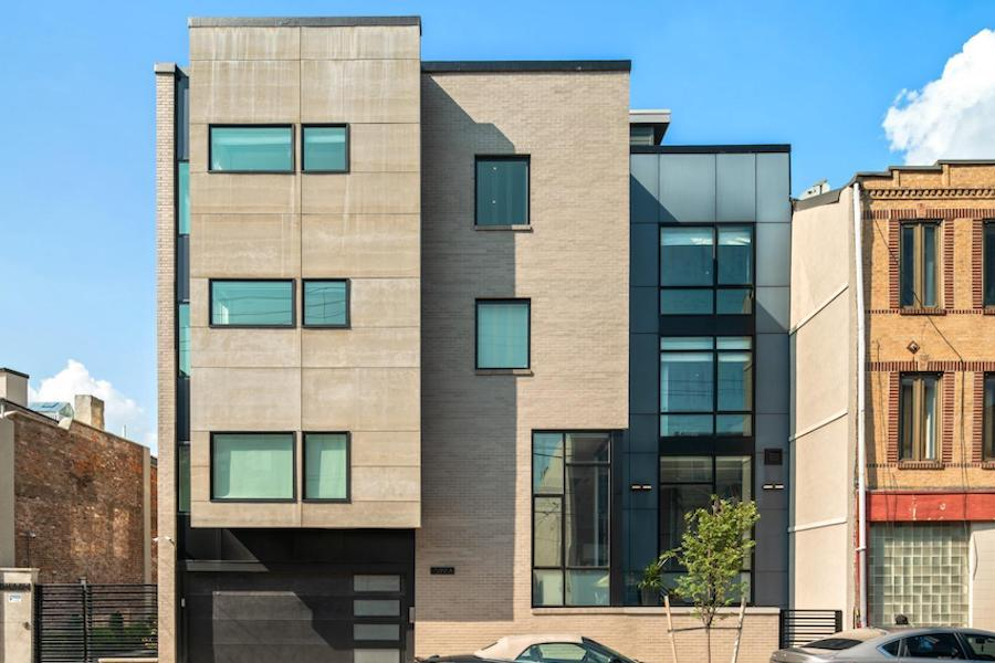 house for sale queen village modern townhouse exterior front