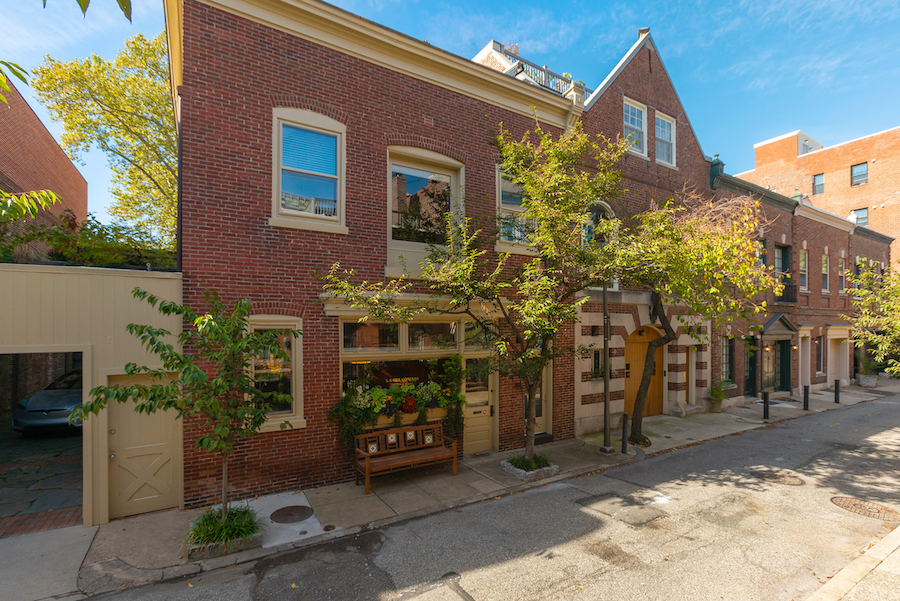house for sale Rittenhouse square converted carriage house exterior front