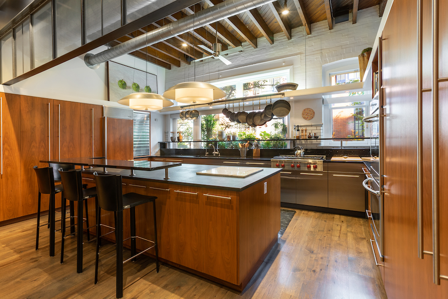 house for sale Rittenhouse square converted carriage house kitchen