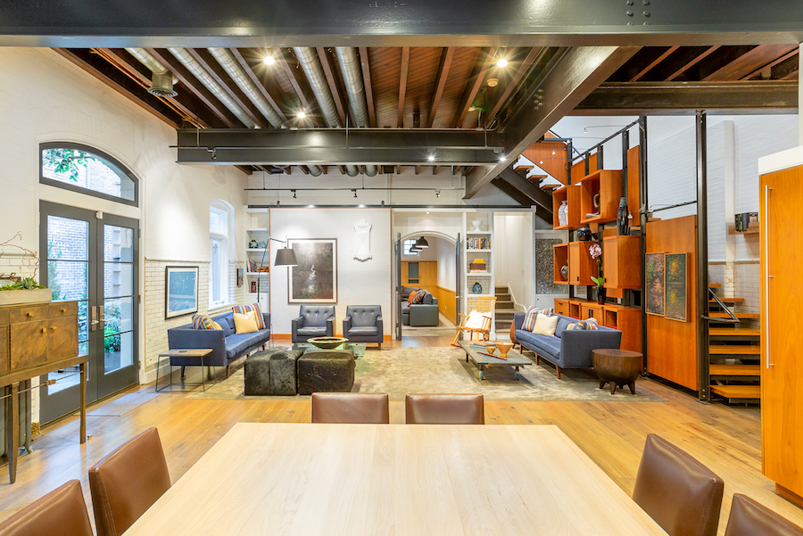 house for sale Rittenhouse square converted carriage house living room