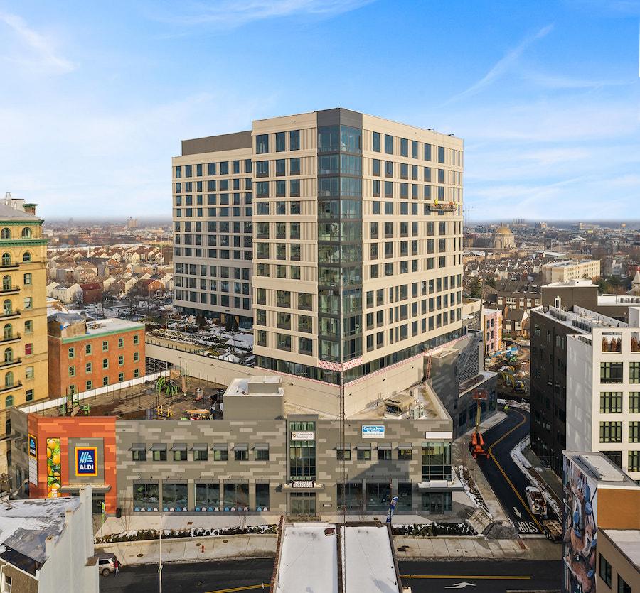 broadridge leasing update aerial view of building