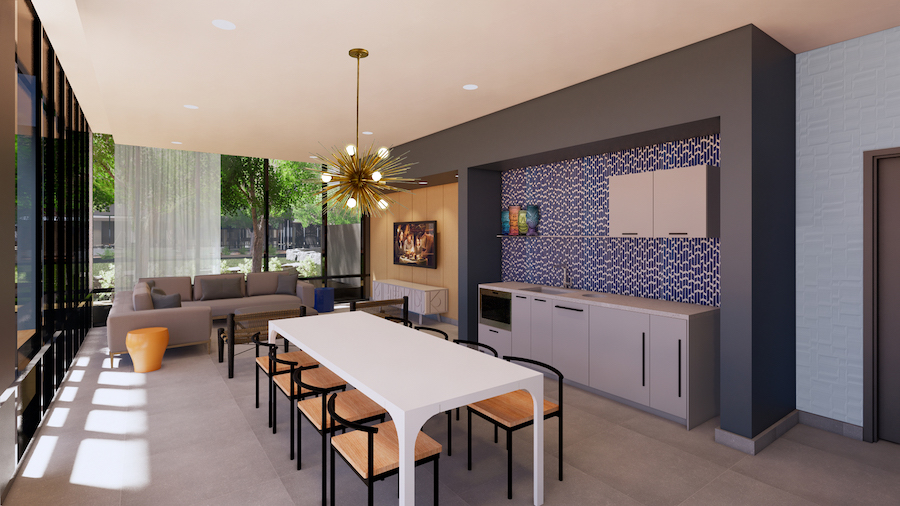 poolside lounge and kitchen