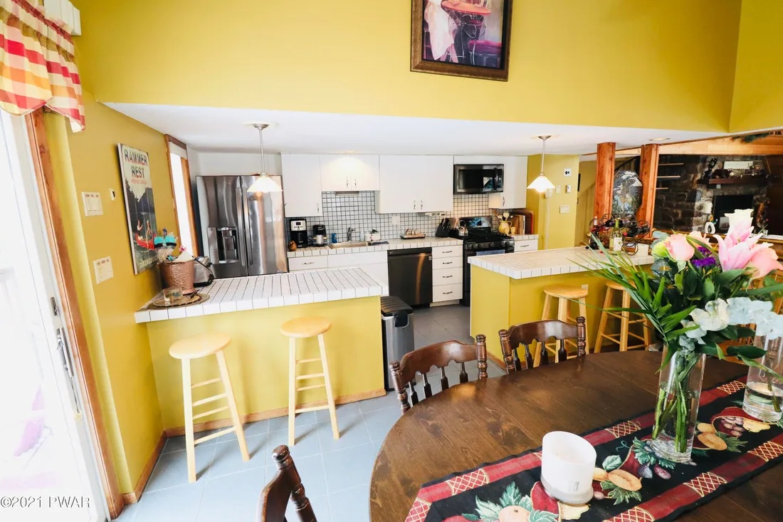 house for sale Greentown expanded a-frame kitchen