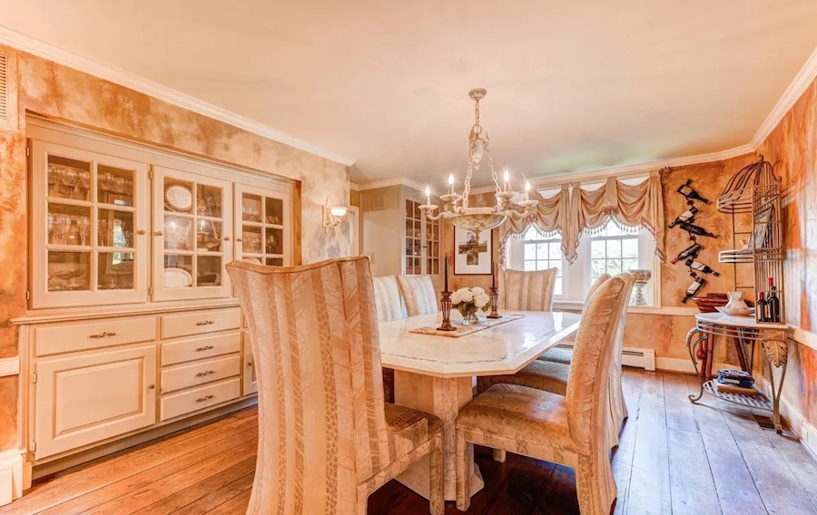 house for sale Worcester expanded farmhouse dining room