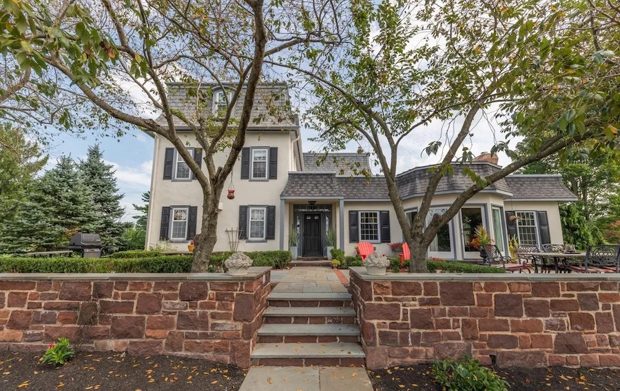 house for sale Worcester expanded farmhouse rear elevation