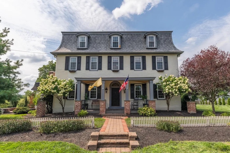 house for sale Worcester expanded farmhouse front elevation