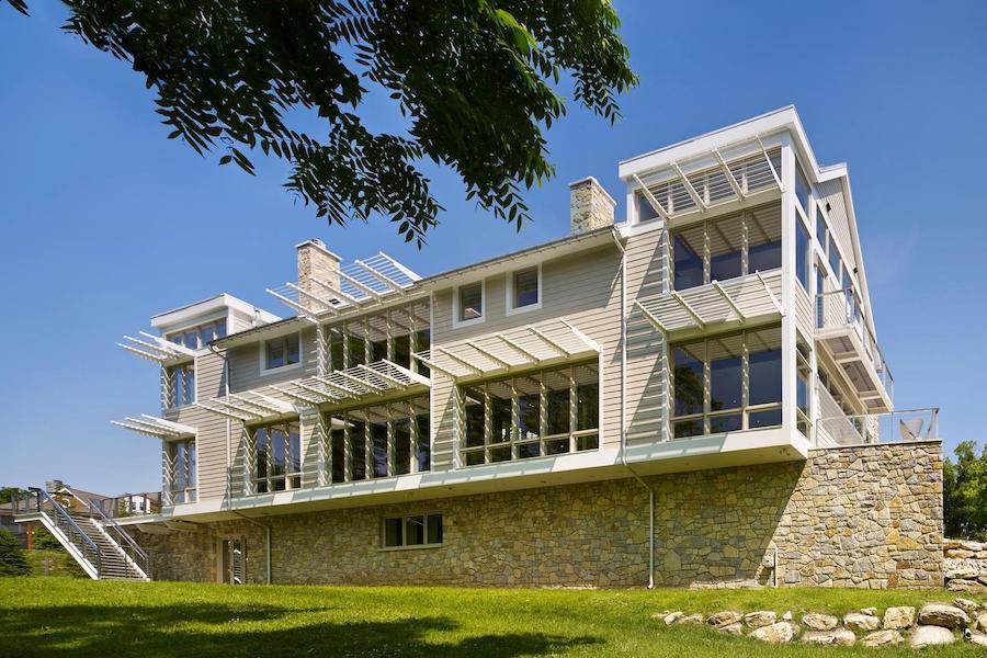 house for sale malvern modern farmhouse rear elevation