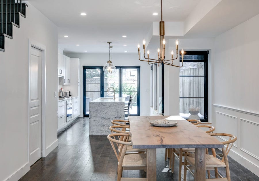 house for sale Rittenhouse Square renovated townhouse dining room