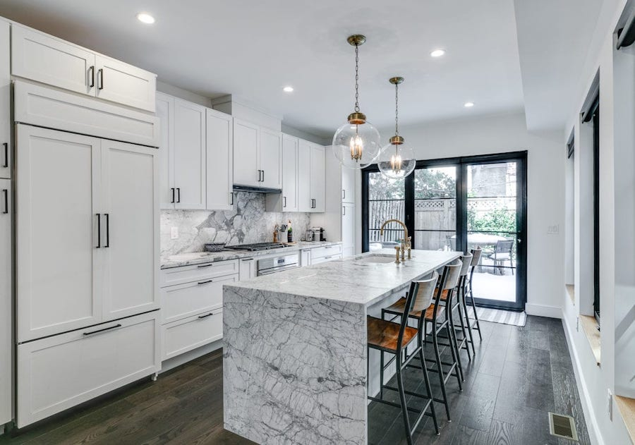 house for sale Rittenhouse Square renovated townhouse kitchen