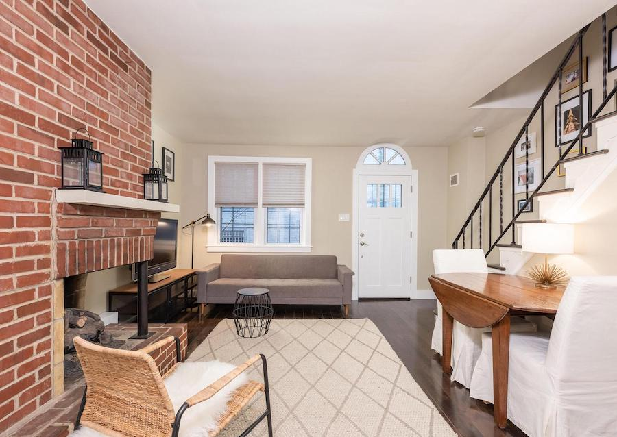 house for sale Rittenhouse square renovated trinity living room