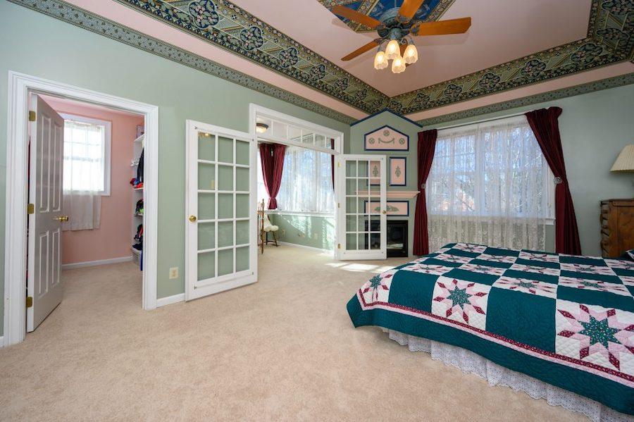 primary bedroom and nursery