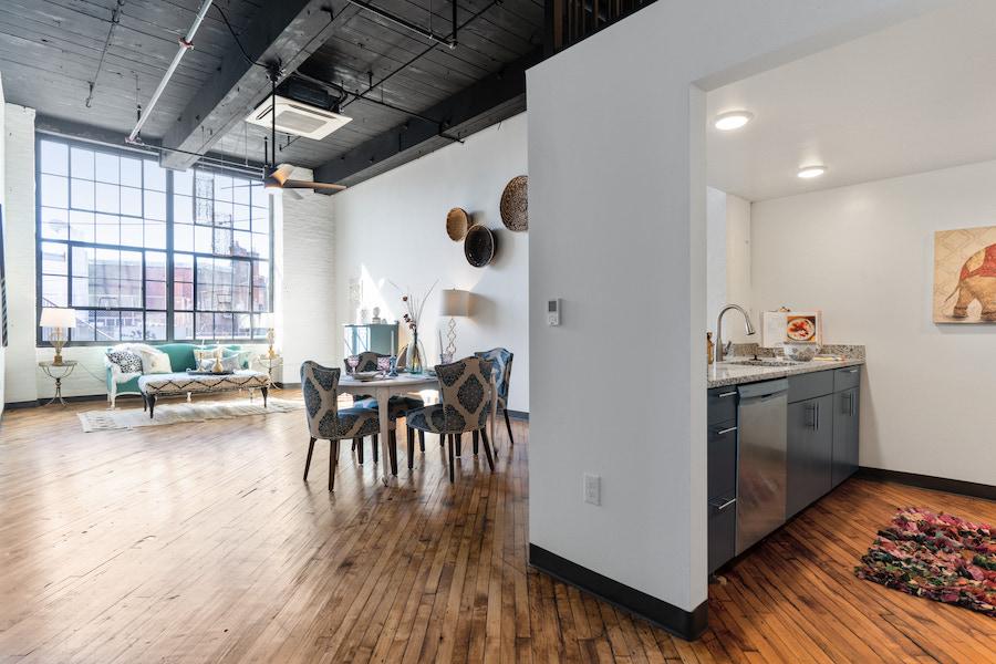 j-centrel apartment profile loft living area