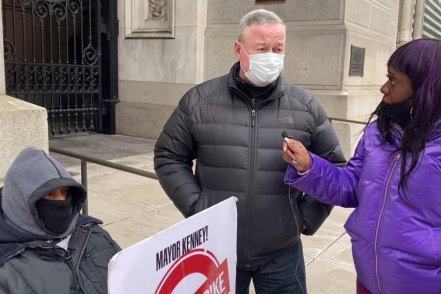 jim kenney gun violence hunger strike
