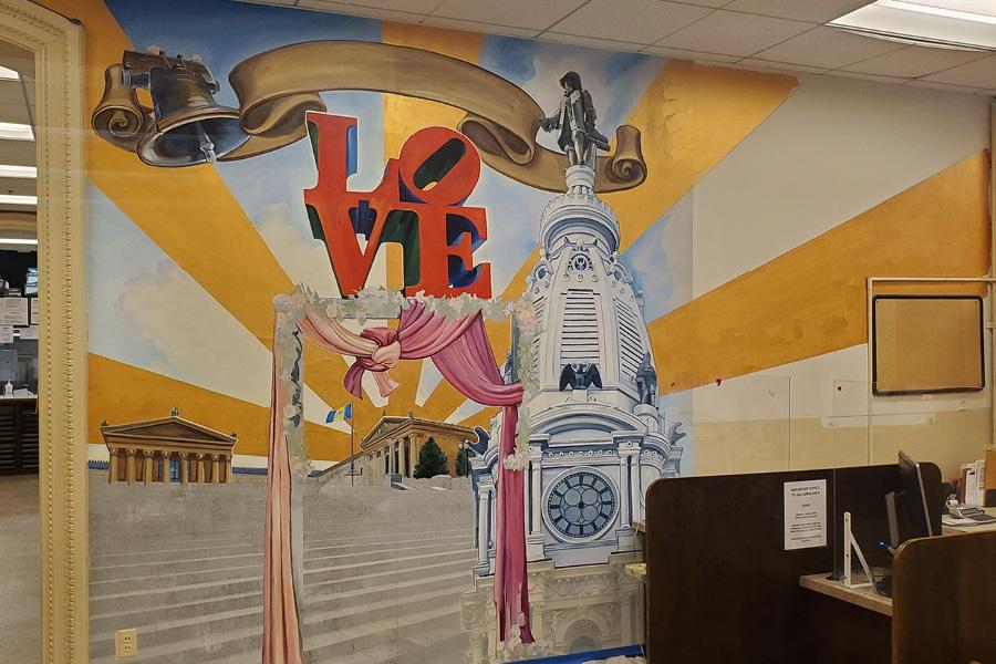 Philadelphia Wedding Mural