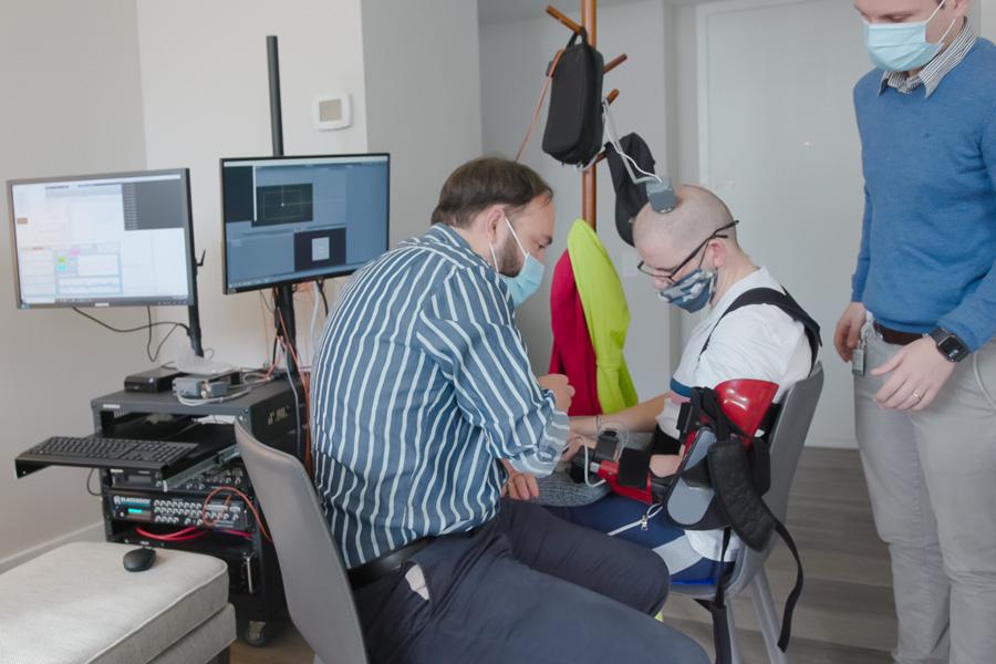 stroke patient brain implant mobility