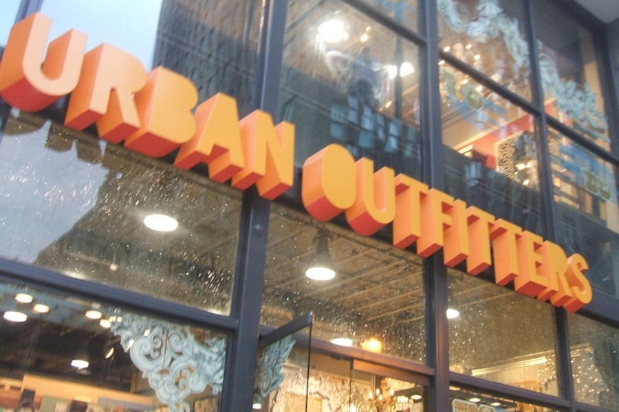 an urban outfitters sign