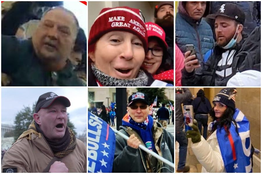 some of the Pennsylvania residents named in the Capitol arrests