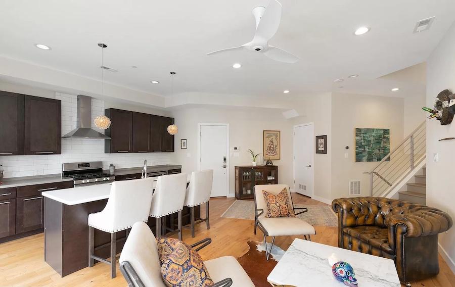 condo for sale francisville split-level main living area