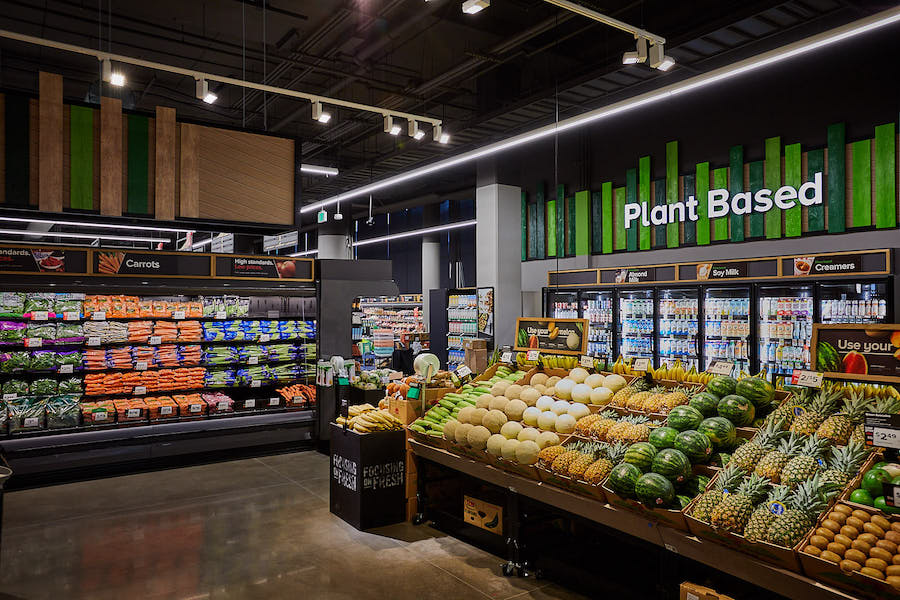 plant-based protein section