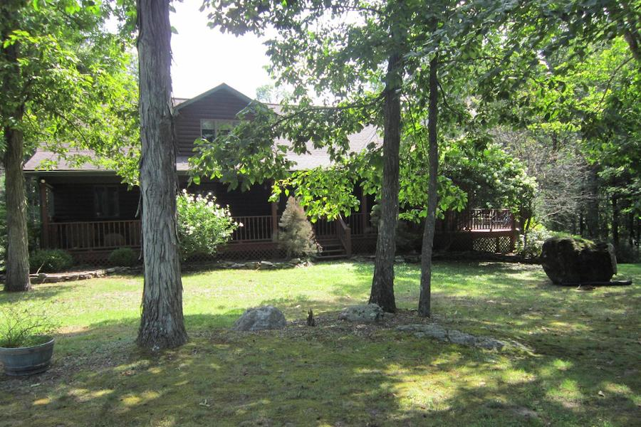 house for sale canadensis log house exterior front