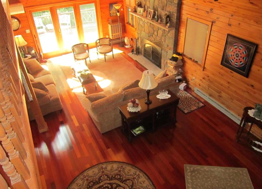 house for sale canadensis log house living room