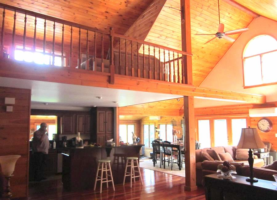 house for sale canadensis log house main living area