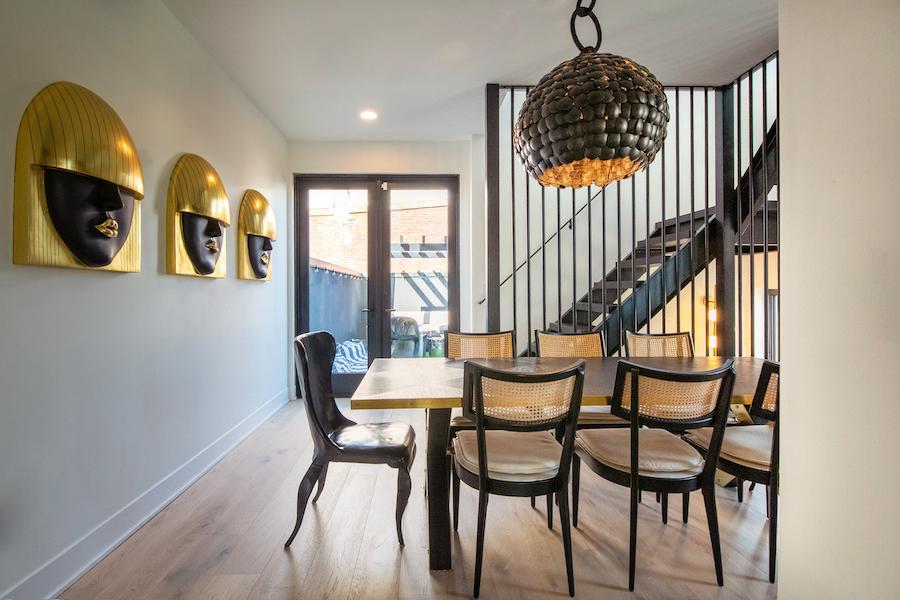 house for sale Fishtown designer townhouse dining room