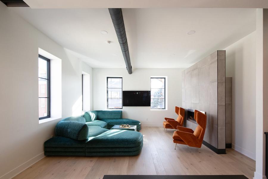 house for sale Fishtown designer townhouse living room