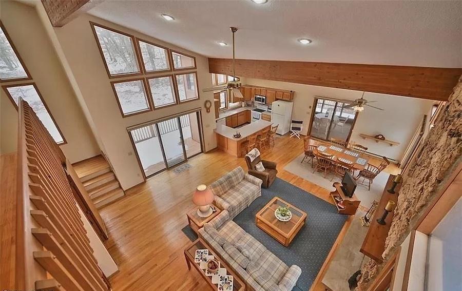 house for sale hemlock farms cedar contemporary balcony view