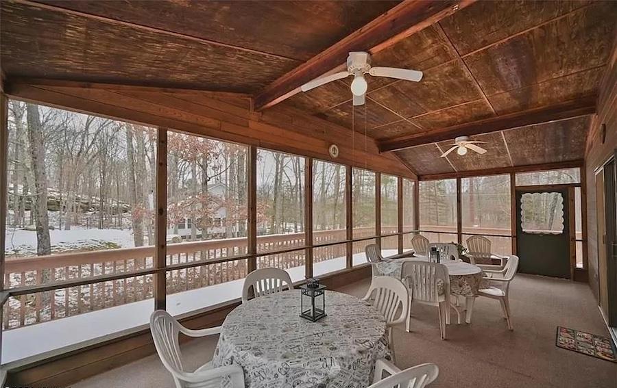 house for sale hemlock farms cedar contemporary sun porch