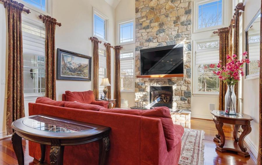 house for sale Hockessin builder's special family room