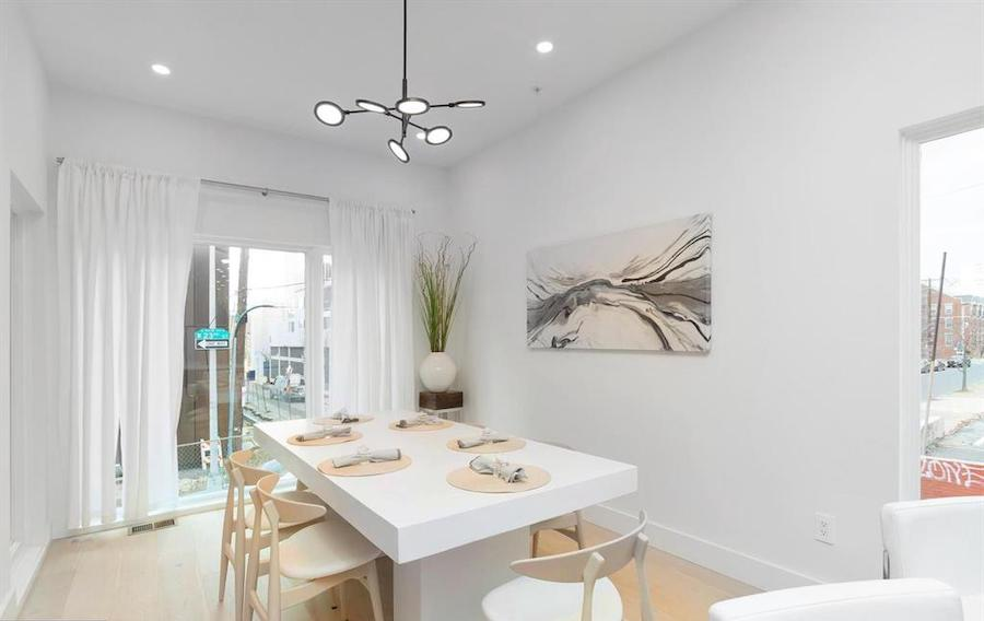 house for sale Logan Square new construction townhouse dining room