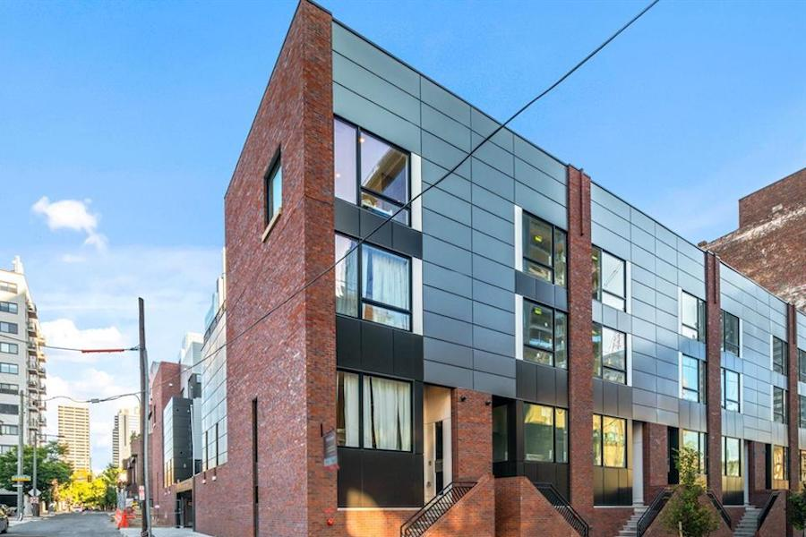 house for sale Logan Square new construction townhouse exterior front