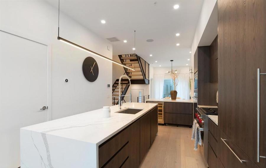 house for sale Logan Square new construction townhouse kitchen